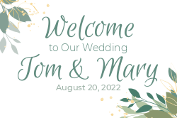 Customizable wedding welcome sign template
