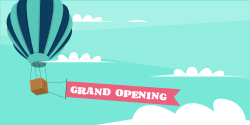 Grand opening | Hot Air Balloon Themed festive Template