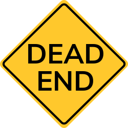 Dead end sign | Permits road user to avoid the dead end