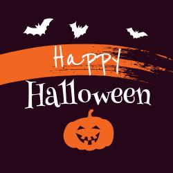 Halloween decorative template