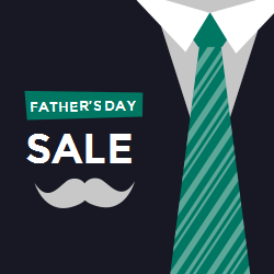 Father's Day promotional sign template