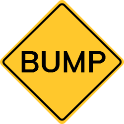 Bump sign | Obstacle used to make vehicles reduce their speed
