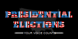Presidential Elections Flag | written by designing with US flag colors