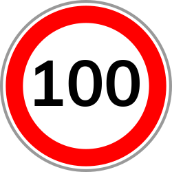 Speed limit 100 | Avoid fines by driving under the allowed speed