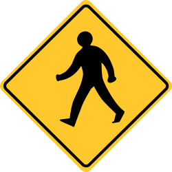 Pedestrian crossing sign | showing where to cross a road