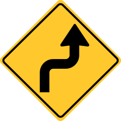 Reverse turn Right sign | First turn is to the right