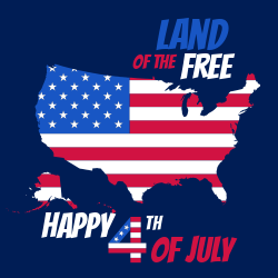 Happy 4th of July template