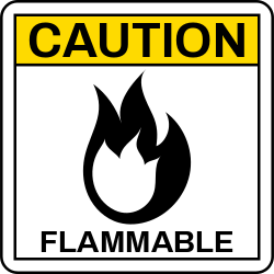 Caution Template | Flammable, Warning about Possible Fire