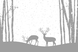 Reindeer in the forest template