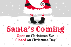 Christmas openclosed sign template