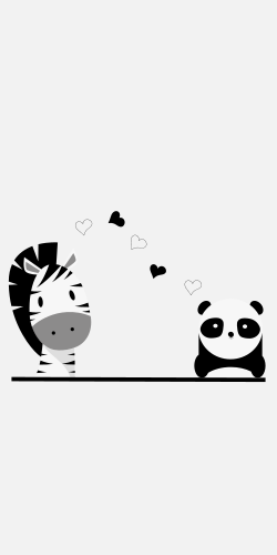 The cute template comes with a black and white picture of a zebra and panda. Create warm atmosphere for your newborn by decorating it nice, eco-friendly and colorful!