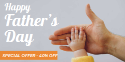 Happy Father S Day Special Offer Template