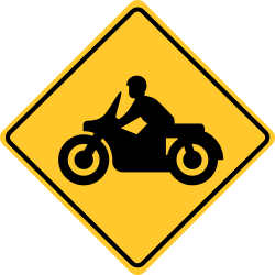 Motorcycle crossing sign | Specifically designed for motorcycle race
