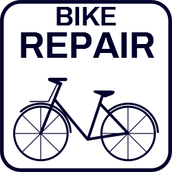 Directional sign template | Bike repair