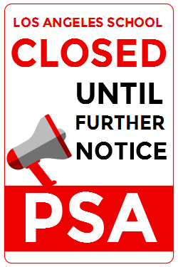 School closed sign template