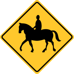 Equestrians sign | Warning of entering a respective zone
