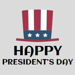 Happy president's day | Cap having look of US flag