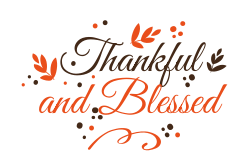 Thanksgiving decorative sign template