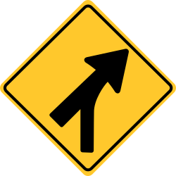 Merging Traffic Sign | Change lane or allow others merge in your lane