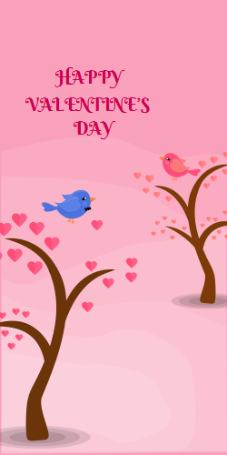 Happy Valentine's Day | Birds in the tree