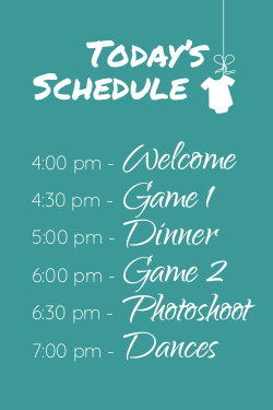 Baby shower schedule template