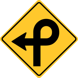 Pretzel loop sign | Double Inversion seen on flying roller coasters