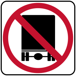 National Network Prohibited sign | Forbids common cars to pass