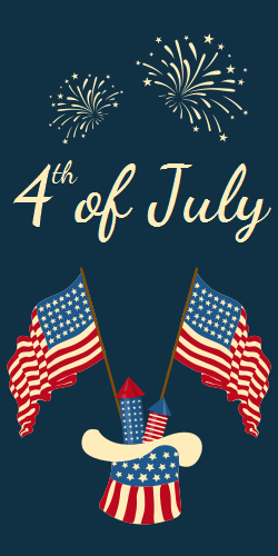 Celebrate the 4th with a Festive Poster | Happy Independence Day