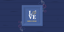 Love | Blue Background with a template written LOVE