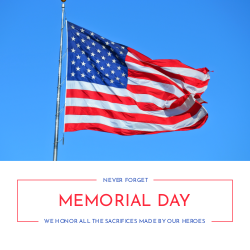 Memorial Day customizable template