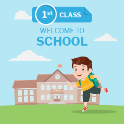 Welcome to School | First class | Schoolboy