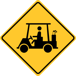 Golf cart crossing sign to alert drivers to Golf Cart Crossings