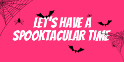 Spooky Halloween signage template