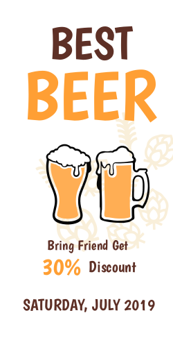 Best beer in the town | bring a friend get a 30% OFF
