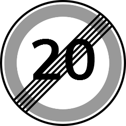 Speed limit 20 | Road regulatory signs