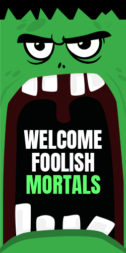 Halloween welcome sign template