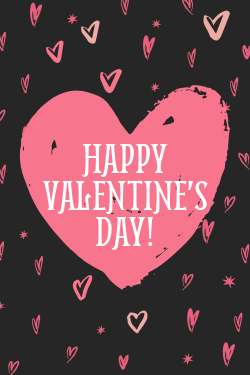Happy Valentine's Day decorative sign template