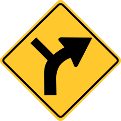 Warning of Unexpected Changes sign in Horizontal Alignment
