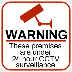 Warning! Surveillance | CCTV 24 hours!