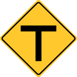 T roads Sign | indicate that the road ends straight ahead