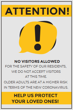 Attention sign template for Coronavirus