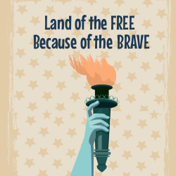 Arm of the Statue of Liberty | Patriotic Poster
