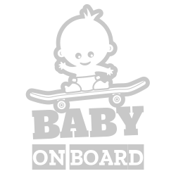 Baby on board funny car decal