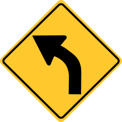 Curve signs | The arrow shows you the direction of the curve