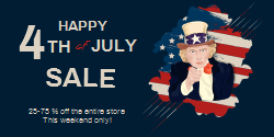 Special Sale Poser For The 4th Of July