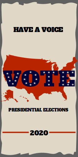 Vote | presidential elections on US flag background