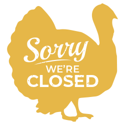 Thanksgiving closed sign template
