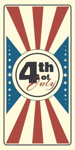 Retro Poster For 4th Of July Celebration Events