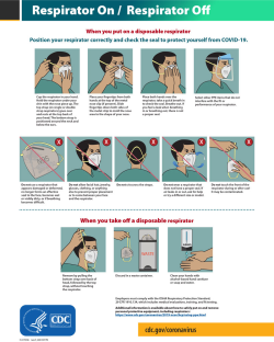 Cdc Covid 19 Template With Respirator Wearing Guideline
