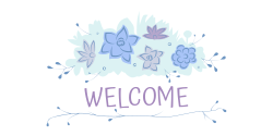 Welcome | Decorated with beautiful purple  flowers